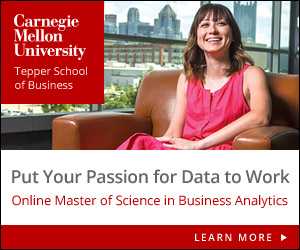 Put your passion for data to work, online MS in Business Analytics from Carnegie Mellon Tepper School of Business